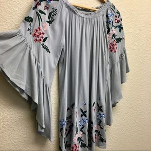 Umgee off the shoulders embroidered dress